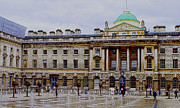 Neo-classical Structure Framed Prints - Somerset House Framed Print by MaryJane Armstrong