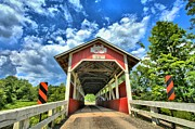 Covered Bridge Prints - Somerset PA Glessner Bridge Print by Adam Jewell