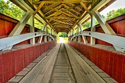 Covered Bridge Prints - Somerset Wooden Roads Print by Adam Jewell