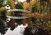 Somesville Maine Prints - Somesville Bridge Print by Marcia Colelli