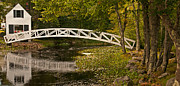 Somesville Maine Prints - Somesville Footbridge Print by Paul Mangold