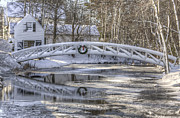 Somesville Maine Prints - Somesville Winter Print by Robert Saccomanno