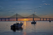 Florida Bridge Digital Art - Something About a Sunrise by Bill Cannon