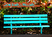 Empty Bench Framed Prints - Something Is Missing Framed Print by Carolyn Marshall