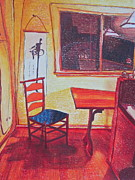 Chair Drawings Originals - Something like Van Gogh by Catharine Gellings