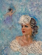 Bride Mixed Media Posters - Something Old Something Blue Poster by Vicki Wynberg