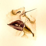 Crush Drawings - Something Sensual This Way Comes...for Valentines Day by Jane Bush