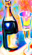 Champagne Paintings - Something To Celebrate by Susi Franco