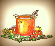 Hearty Paintings - Somethings A Cooking by Marla Hoover
