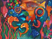 Something's Fishy Print by Debbie McCulley
