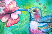Painterly Painting Prints - Somethings Humming Print by Debi Pople
