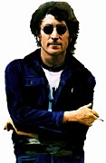 John Lennon David Pucciarelli Prints - Sometime In NYC  John Lennon Print by Iconic Images Art Gallery David Pucciarelli