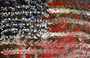 Abstract American Flag Paintings - Sometimes Distorted Never Destroyed by Gary McCorkle