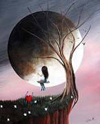 Surreal Landscape Painting Metal Prints - Sometimes She Just Wants To Be Alone by Shawna Erback Metal Print by Shawna Erback