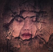 Woman Face Prints - Sometimes your whole life cracks Print by Gun Legler