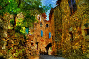 Azur Digital Art Prints - Somewhere in France Print by Marina Likholat