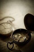 Clocks Metal Prints - Somewhere in Time Metal Print by Amy Weiss