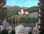 Tuscan Hills Paintings - Somewhere in Tuscany by Gerry High