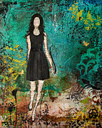 Folk Art Mixed Media - Somewhere Only We Know by Janelle Nichol