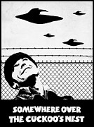 U.f.o. Posters - Somewhere Over The Cuckoos Nest Poster by Filippo B