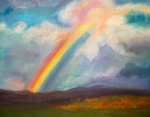 Anne Cameron Cutri Metal Prints - Somewhere over the rainbow Metal Print by Anne Cameron Cutri