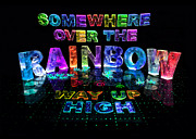 Name In Lights Metal Prints - Somewhere Over The Rainbow Metal Print by Jill Bonner