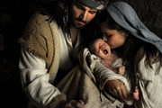 Baby Jesus Photo Prints - Son of Man Print by Helen Thomas Robson