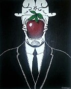 Rene Magritte Paintings - Son of the Dead by Collin Geiger