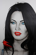 Megan Fox Posters - Song Bird Poster by Christian Chapman Art