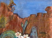 Icon  Mixed Media - Song of Kokopelli by Anne-Elizabeth Whiteway