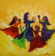 Israel Painting Originals - Song Of Praise by Angela Mae Cheetham