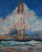 Surrealist Portrait Prints - Song of September Print by Michael Creese