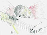 Angels Drawings - Song of the Cherub by Michael Snincsak