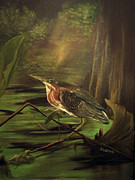 Fronds Paintings - Song of the Everglades by Sharon Burger