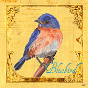 Colorful Songbirds 1 Print by Debbie DeWitt