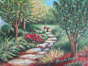Flagstones Prints - Songbird Pathway Print by Pamela Poole