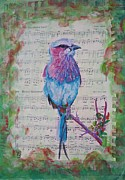 Singing Mixed Media Originals - Songbird by Talmadge Broome