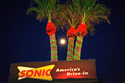 Roller Skates Posters - Sonic Americas Drive in Poster by Beverly Guilliams