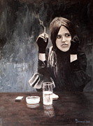 Grisaille Paintings - Sonja in Grisaille by Michael John Cavanagh