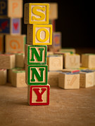 Sonny Prints - SONNY - Alphabet Blocks Print by Edward Fielding
