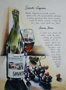Wine Glass Paintings - Sonoita Vineyards by Alessandra Andrisani
