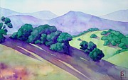 California Painting Posters - Sonoma Hills Poster by Robert Hooper