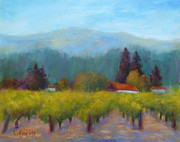 Grape Vineyards Posters - Sonoma Valley View Poster by Carolyn Jarvis