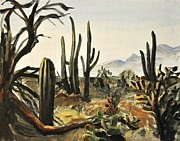 Sonora Painting Originals - Sonoran Desert 1 by David Larsen