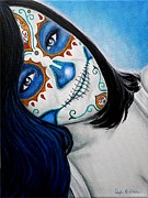 Mexican Holiday Prints - Sonrisa Azul Print by Al  Molina