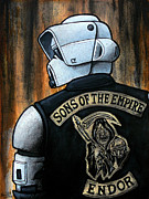 Death Star Metal Prints - Sons of the Empire Metal Print by Marlon Huynh
