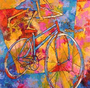Bicycles Paintings - Sooner or Later by Susan Webb Tregay