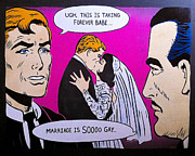 Lichtenstein Posters - Soooo Gay Poster by Bobby Zeik