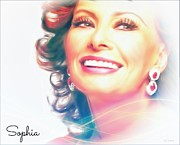 Italian Actress Digital Art - Sophia  by Barbara Chichester