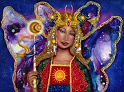 Goddess Mythology Paintings - Sophia Goddess of Creation by Ilene Satala